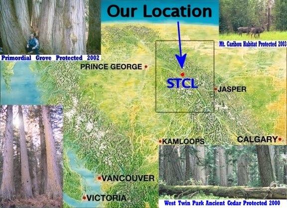 Location of Save-The-Cedar League (92 K)